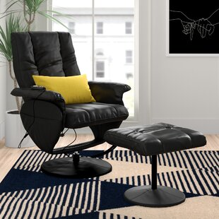 Groovy Leather Reclining Heated Massage Chair With Ottoman Short Links Chair Design For Home Short Linksinfo