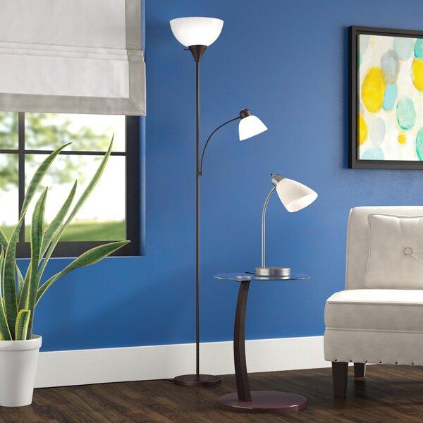 Vutech 77 Torchiere Floor Lamp by Ebern Designs