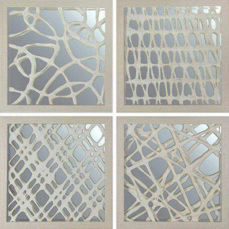 4 Piece E Paper Art Wall Décor Set