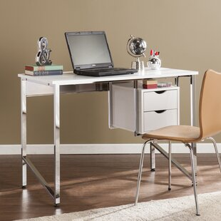 Carstarphen Writing Desk - White/Chrome