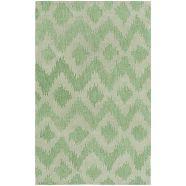 Arbuckle Hand-Tufted Grass Green/Moss Area Rug by Bungalow Rose