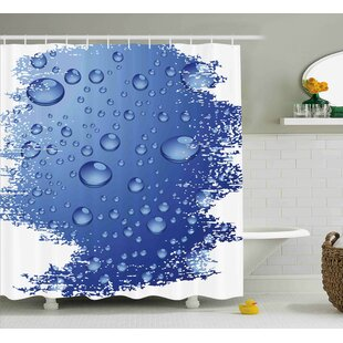 Affordable Grunge Bubble Water Rain Drop Shower Curtain ByEast Urban Home