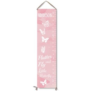 Butterfly Personalized Canvas Growth Chart