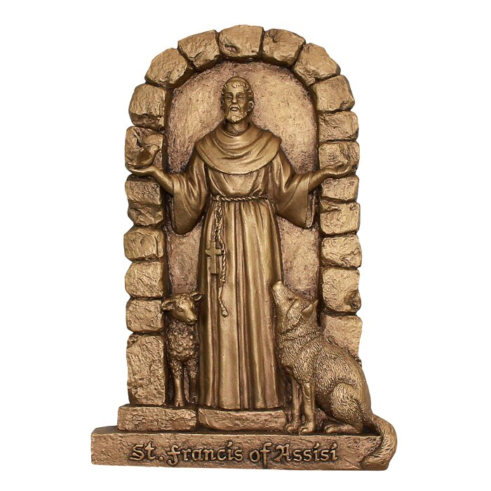 St francis of assisi welcome to my garden wall décor