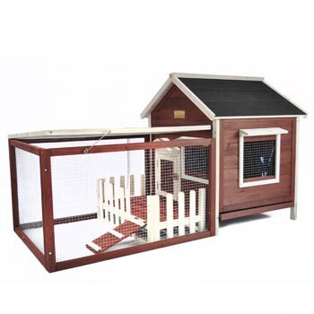 Hector The White Picket Fence Rabbit Hutch by Tucker Murphy Pet