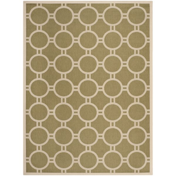 Jefferson Place Green/Beige Outdoor Rug by Wrought Studio