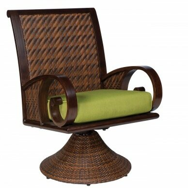 North Shore Swivel Patio Chair with Cushion by Woodard