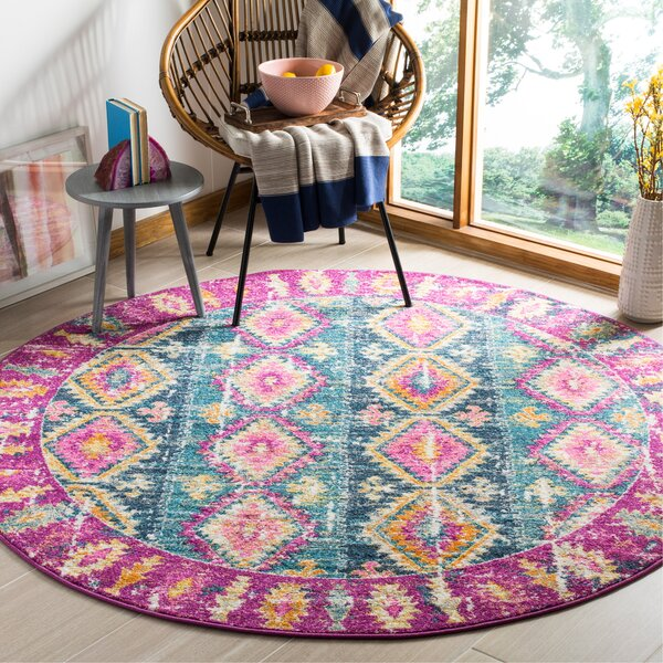 Esparza Fuchsia Area Rug by Bungalow Rose