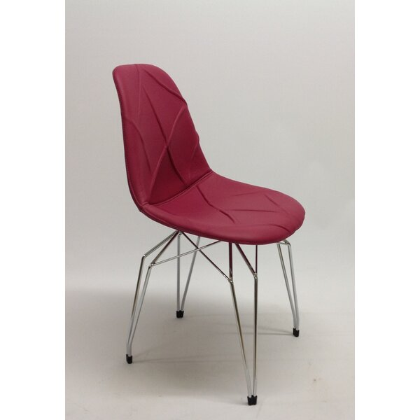 Schlater Diamond Genuine Leather Upholstered Dining Chair By Wrought Studio