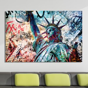 Graffiti Liberty Zero Graphic Art on Canvas by Salty & Sweet