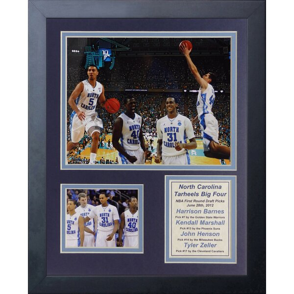 2012 North Carolina Tar Heels Draft Framed Memorabilia by Legends Never Die