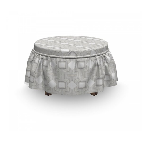 Geometrical Ottoman Slipcover (Set Of 2) By East Urban Home