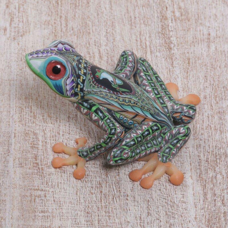 Bloomsbury Market Thurleigh Vibrant Tree Frog Figurine Wayfair