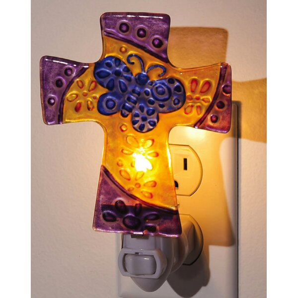 Floral Cross Night Light by Evergreen Enterprises, Inc