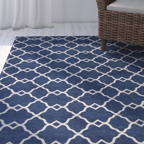 Cambridge Navy Layla Area Rug by Breakwater Bay