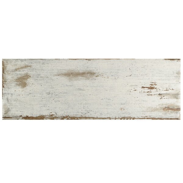 Rama 8.25 x 23.5 Porcelain Wood Look/Field Tile in White by EliteTile