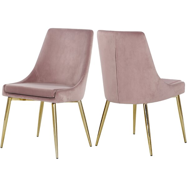 Karina Upholstered Dining Chair (Set Of 2) By Orren Ellis