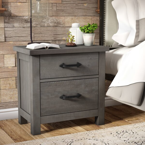 Candler 2 Drawer Nightstand by Three Posts