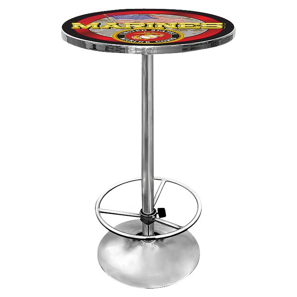 Remarkable United States Marine Corps Pub Table By Trademark Global Download Free Architecture Designs Estepponolmadebymaigaardcom
