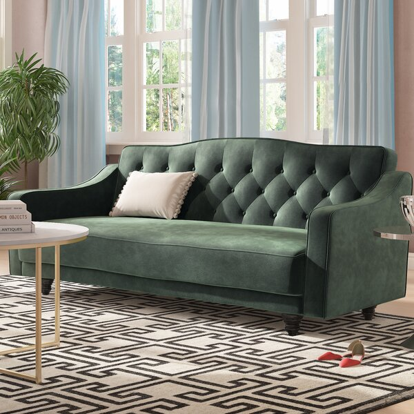 In Style Magruder Tufted Sleeper Sofa by Rosdorf Park by Rosdorf Park