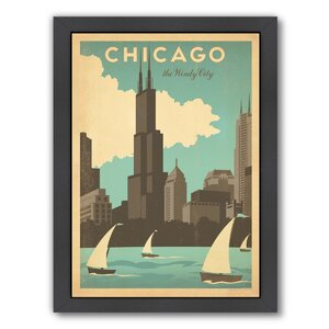 'Chicago Windy City' Framed Vintage Advertisement by East Urban Home