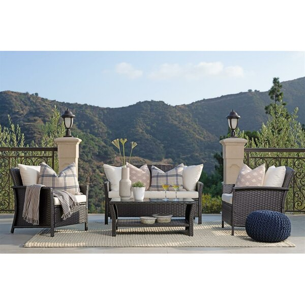Gaviota 4 Piece Sofa Seating Group with Cushions by Bayou Breeze