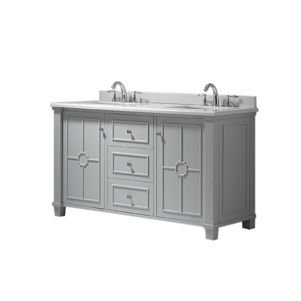 Positano 60 Double Bathroom Vanity Set by Ove Decors