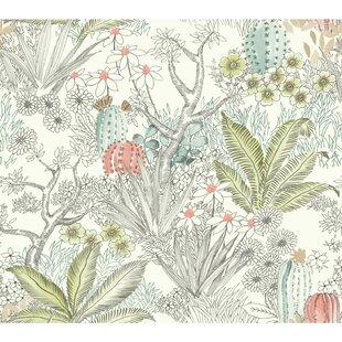 Flowering Desert 27 L X 27 W Wallpaper Roll
