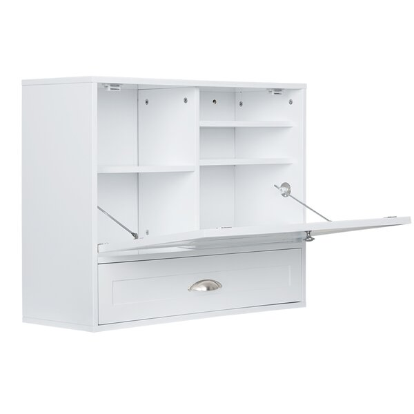 Summerset Wall Mount Drop Down Floating Desk by Charlton Home
