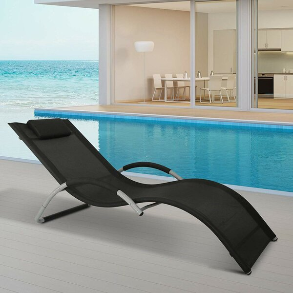 Stephane Fabric Reclining Chaise Lounge by Orren Ellis Orren Ellis