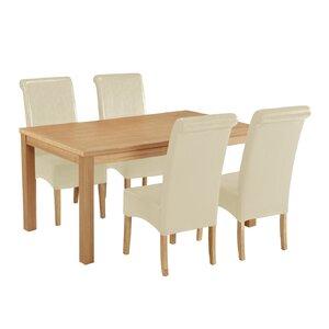 Essgruppe Exmouth mit 4 Stühlen von Home Loft Concept