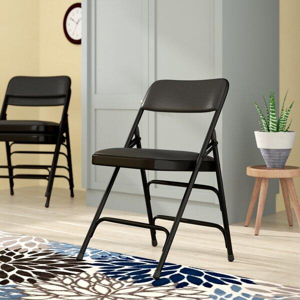 Laduke Vinyl Padded Folding Chair by Symple Stuff