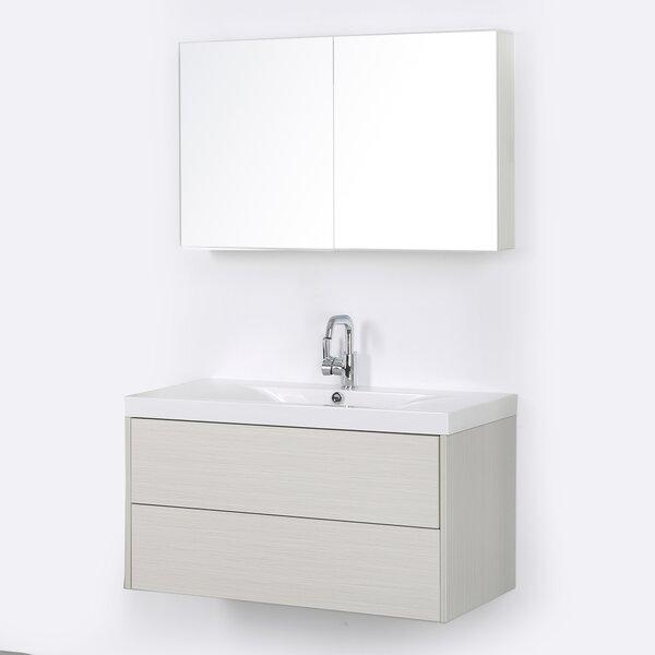39 Wall-Mounted Single Bathroom Vanity Set with Mirror by Streamline Bath