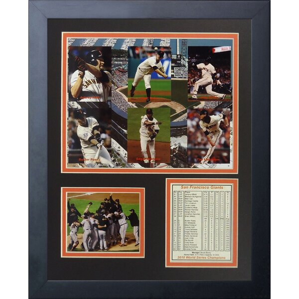 2010 San Francisco Giants Framed Memorabilia by Legends Never Die