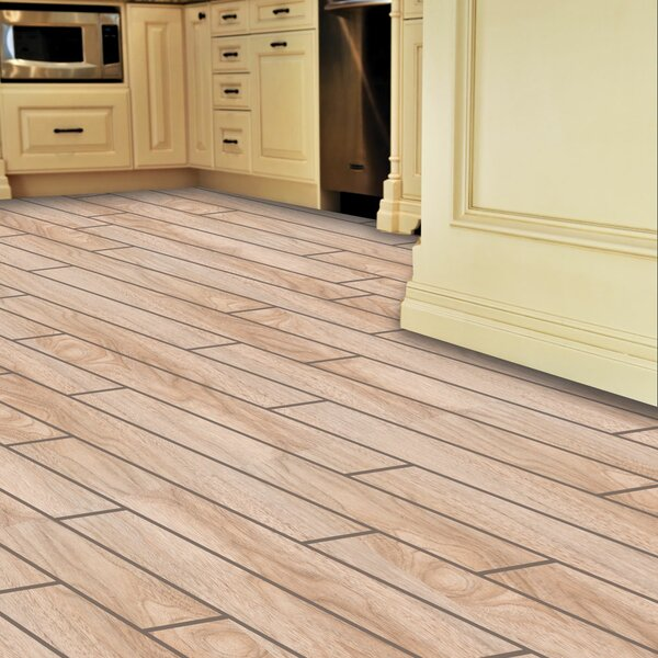 Planks ThinLine 6 x 24 Porcelain Wood Tile in Natural by SnapStone