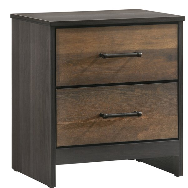 Neuman 2 Drawers Nightstand by Union Rustic