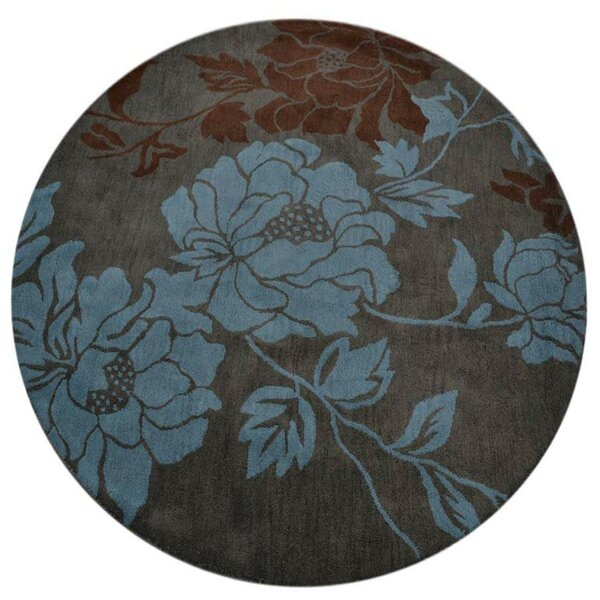 Creager Hand-Tufted Wool Gray/Aqua Area Rug by Winston Porter