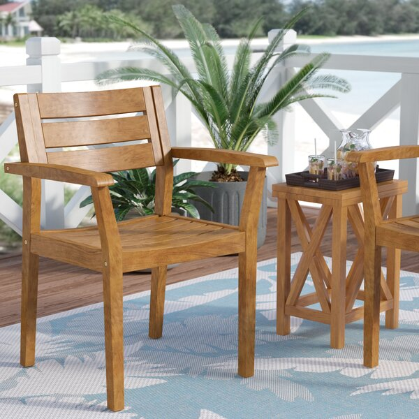 Dalila Outdoor Rustic Patio Dining Chair (Set of 2) by Mistana