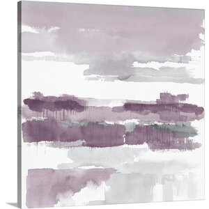 'Amethyst Wetlands' by Mike Schick Painting Print on Wrapped Canvas by Great Big Canvas