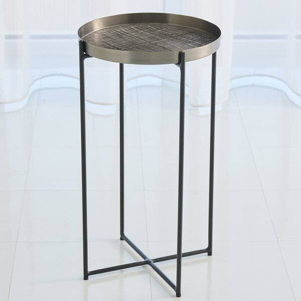 Plaid Etched Tray Table by Global Views