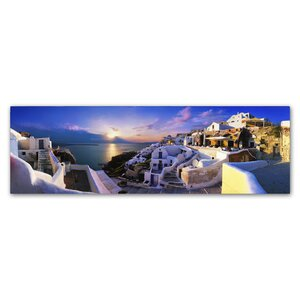 Santorini Sunset by John Xiong Photographic Print on Wrapped Canvas by Trademark Fine Art