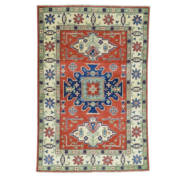 One-of-a-Kind Tillotson Hand-Knotted Red/Beige/Blue Area Rug by Millwood Pines