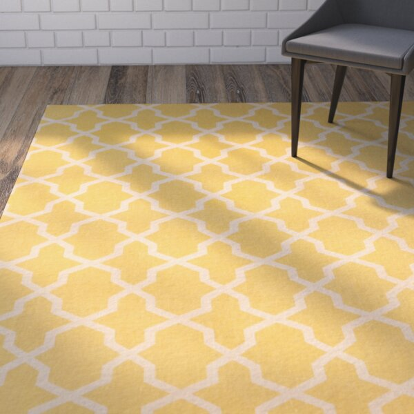 Miranda Hand-Loomed Yellow/Ivory Area Rug by Winston Porter