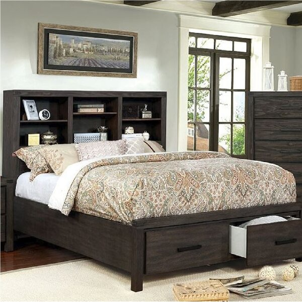 Mathias Bookcase Headboard Storage Platform Bed by Gracie Oaks
