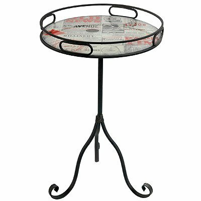 Radnor Old News Paper Style End Table by Williston Forge