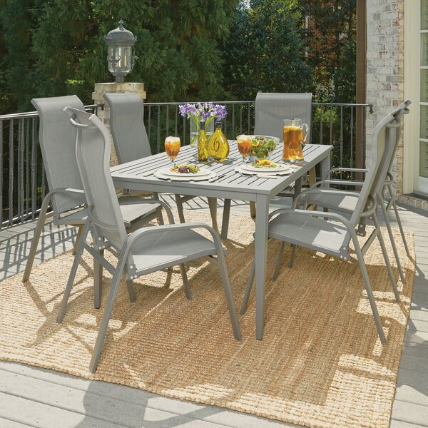 Dinapoli Outdoor 7 Piece Dining Set by Red Barrel Studio