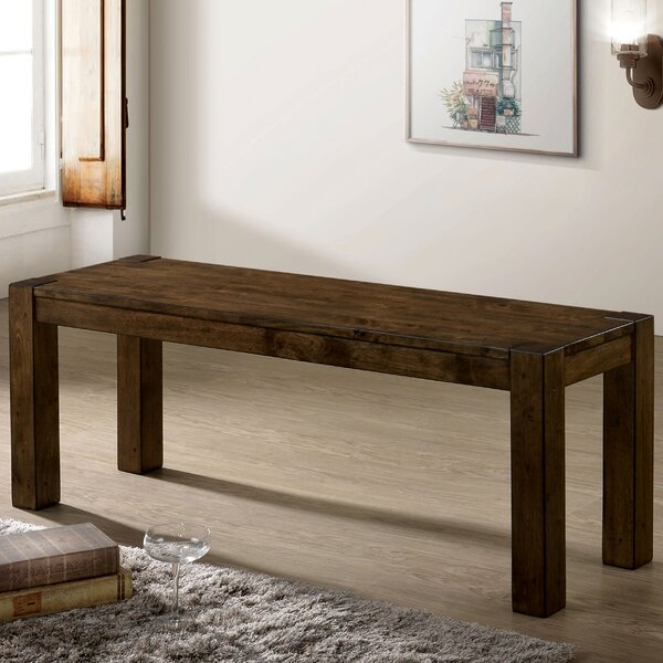 Jovanny Wood Bench by Millwood Pines
