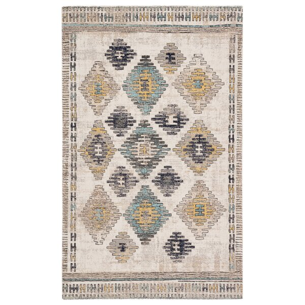 Vanburen Tribal Blue/Beige Indoor/Outdoor Area Rug by Bungalow Rose