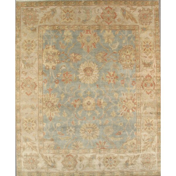 Sultanabad Hand-Knotted Blue/Ivory Area Rug by Pasargad
