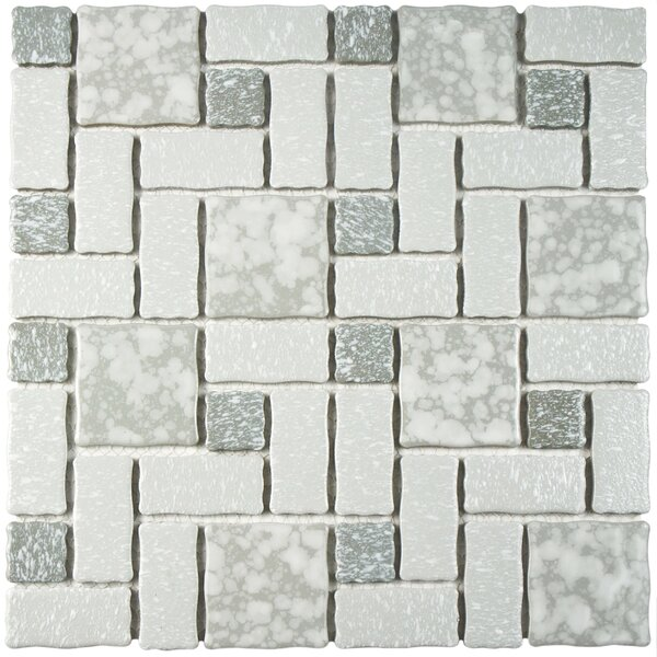 Pallas Random Sized 11.75 x 11.75 Porcelain Mosaic Tile in Gray by EliteTile